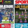 2018年4月03日(火)のバルセロナスポーツ紙:ローマ戦まであと1日