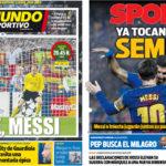 2018年4月10日(火)のバルセロナスポーツ紙:さあ CL準決勝行きを決めよう