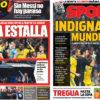 2018年4月13日(金)のバルセロナスポーツ紙:マドリー有利な笛への怒り