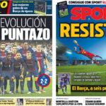 2018年4月18日(水)のバルセロナスポーツ紙:バライードスで耐えて1ポイント