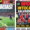 2018年4月23日(月)のバルセロナスポーツ紙:イニエスタへの感謝とバルベルデ