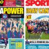 2018年4月24日(火)のバルセロナスポーツ紙:バルサユースが欧州制覇!