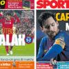 2018年4月25日(水)のバルセロナスポーツ紙:サラー祭りを遠くで眺める