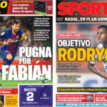 2018年4月27日(金)のバルセロナスポーツ紙:ファビアンとかロドリゴとか・・・