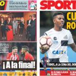 2018年5月04日(金)のバルセロナスポーツ紙:二冠を祝う夕食会