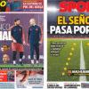 2018年5月06日(日)のバルセロナスポーツ紙:イニエスタのラストクラシコ