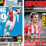 2018年5月09日(水)のバルセロナスポーツ紙:消化試合より補強ネタ