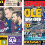 2018年5月10日(木)のバルセロナスポーツ紙:無敗続き、マドリーは18pt差