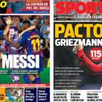 2018年5月13日(日)のバルセロナスポーツ紙:メッシ抜きで無敗継続へ