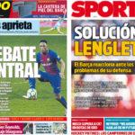 2018年5月15日(火)のバルセロナスポーツ紙:セントラル議論、再着火