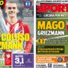 2018年5月17日(木)のバルセロナスポーツ紙:巨匠で魔術師、グリースマン