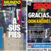 2018年5月19日(土)のバルセロナスポーツ紙:イニエスタ退団式典