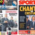 2018年5月28日(月)のバルセロナスポーツ紙:クリスティアノ危機?