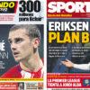 2018年5月29日(火)のバルセロナスポーツ紙:グリースマンとエリクセン