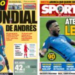 2018年6月06日(水)のバルセロナスポーツ紙:イニエスタ、代表継続を示唆