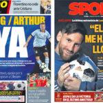 2018年6月10日(日)のバルセロナスポーツ紙:中盤補強の前倒しとメッシ