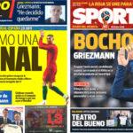 2018年6月15日(金)のバルセロナスポーツ紙:グリースマンが残留を発表