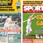 2018年6月20日(水)のバルセロナスポーツ紙:イラン戦に気合