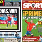 2018年6月26日(火)のバルセロナスポーツ紙:スペインが首位通過!