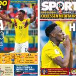 2018年6月29日(金)のバルセロナスポーツ紙:ミナが2試合連続弾!