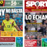 2018年7月04日(水)のバルセロナスポーツ紙:またもミナ弾、だがサラバ