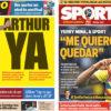 2018年7月05日(木)のバルセロナスポーツ紙:アルトゥール目前、残留したいミナ