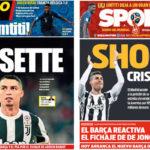 2018年7月11日(水)のバルセロナスポーツ紙:クリスティアノがユベントス移籍