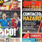 2018年7月12日(木)のバルセロナスポーツ紙:クロアチアが決勝進出!