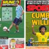 2018年7月23日(月)のバルセロナスポーツ紙:スカッド計画とウイリアン