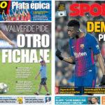 2018年7月29日(日)のバルセロナスポーツ紙:バルベルデは中盤の補強を望む