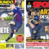 2018年7月30日(月)のバルセロナスポーツ紙:アルトゥールへの期待高まる
