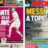2018年8月01日(水)のバルセロナスポーツ紙:メッシがトレーニング開始