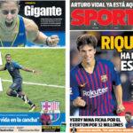 2018年8月06日(月)のバルセロナスポーツ紙:ポグバとリキ・プッチ