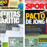 2018年8月09日(木)のバルセロナスポーツ紙:クルトワが白組へ