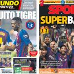 2018年8月13日(月)のバルセロナスポーツ紙:スーペルコパ獲得!