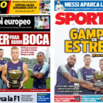2018年8月15日(水)のバルセロナスポーツ紙:新加入選手たちのガンペル杯