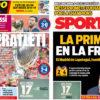 2018年8月16日(木)のバルセロナスポーツ紙:スーパーアトレティコとガンペル杯