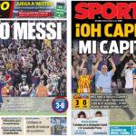 2018年8月19日(日)のバルセロナスポーツ紙:今季もよろしく、メッシ様