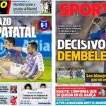 2018年8月26日(日)のバルセロナスポーツ紙:デンベレ弾でバジャドリに辛勝