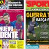 2018年8月27日(月)のバルセロナスポーツ紙:新トリデンテと対PSG戦争