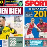 2018年8月29日(水)のバルセロナスポーツ紙:パコのドイツ行きと来季の構想