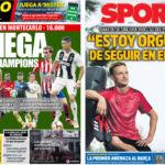 2018年8月30日(木)のバルセロナスポーツ紙:本日、CL組み合わせ抽選会