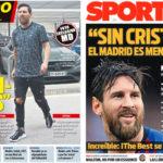2018年9月04日(火)のバルセロナスポーツ紙:メッシ、ラジオで語る