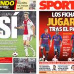2018年9月05日(水)のバルセロナスポーツ紙:ネタが枯れるFIFA週間