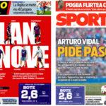 2018年9月07日(金)のバルセロナスポーツ紙:契約更新とアルトゥロ・ビダル