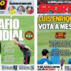 2018年9月11日(火)のバルセロナスポーツ紙:ルーチョスペインの地元初戦