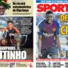 2018年9月17日(月)のバルセロナスポーツ紙:コウチーニョとデンベレ