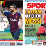 2018年9月18日(火)のバルセロナスポーツ紙:チャンピオンズ開幕