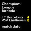 マッチレポート|チャンピオンズ第1節 バルサ 4-0 PSV