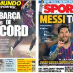2018年9月20日(木)のバルセロナスポーツ紙:バルサ快勝の余韻を愉しむ